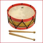 stevige houten trommel dat wordt geleverd met 2 trommelstokjes