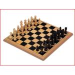 complete houten schaakset met koningshoogte 61 mm
