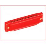 een rode mondharmonica voor kinderen