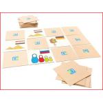 memoryspel bestaande uit 15 paar houten plaatjes