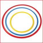 set bestaande uit 3 platte hoepels met een verschillende diameter