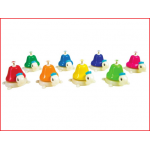 set van 8 gekleurde baliebellen met elk een verschillende noot