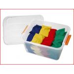 een box met 40 pittenzakjes in 4 verschillende kleuren