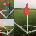 set van 4 flexibele cornerpalen met vlag