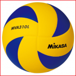 de Mikasa MVA310L is een door de FIVB goedgekeurde wedstrijd- en trainingsbal met een lichter gewicht