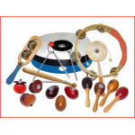 een set van 18 kleinere muziekinstrumenten voor kinderen