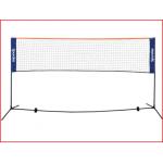 gemakkelijk te monteren badminton en minitennis set
