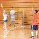 kwiknet installatie voor badminton en mini tennis