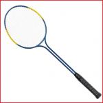 een duurzaam stalen badmintonracket dubbele steel