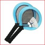 badmintonset fun bestaande uit 2 rackets van 45 cm en 2 pluimpjes