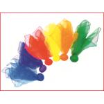 set van 6 gekleurde katoenen doekballen