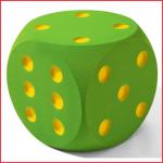 Volley® dobbelsteen foam 30 cm met een gewicht van 650 gram