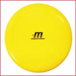 een frisbee van 130 gram met een diameter van 24 cm