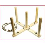 een giga houten ringwerpspel van 100 x 100 cm