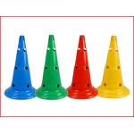 multifunctionele kegel met gaten en gleuf in 4 verschillende kleuren