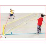 een kwiknet systeem inclusief 2 netten te gebruiken voor tennis en badminton