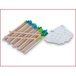 een lucifer puzzel  bestaande uit 24 houten lucifers en 30 opdrachtkaartjes