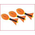 set van 3 veilige werpballen torpedo in foam rubber