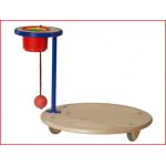 de Pedalo fun-wipp is een balanceerbord voorzien van een staander met stapelbekers