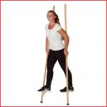 houten Pedalo stelten 200 cm voor kinderen en volwassenen