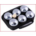petanque set bestaande uit 6 ballen , één but en een meetlint