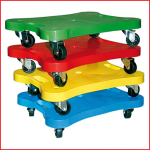 rolplank met 4 zwenkwielen belastbaar tot 50 kg