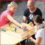 Pedalo houten spelbord geschikt voor alle leeftijden