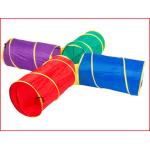 een kruiptunnel supercross 225 cm bestaande uit 4 tunnels van elk 91 cm