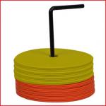 set van 24 ronde vloermarkeringen in antislip rubber
