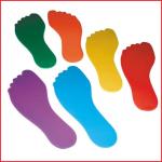vloermarkeringen voeten in PVC met een afmeting van 23 x 8 cm