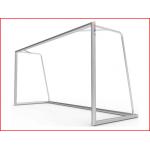 een sterk aluminium voetbaldoel van 300 x 150 cm