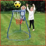 een werpdoel basket met een hoogte van 86 cm