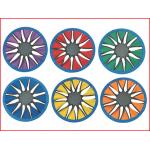 een kleurrijke frisbee in zacht nylon en neopreen