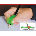 de grotto grip is een schrijfhulpmiddel om de vingers juist te positioneren