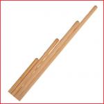 een gymstok 100 cm vervaardigd uit geschaafd rondhout