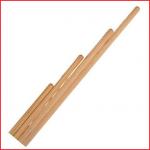 een gymstok 120 cm vervaardigd uit geschaafd rondhout
