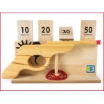 een houten schietspel voor binnen en buiten