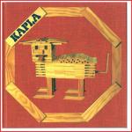 het rode instructieboekje van Kapla voor kinderen vanaf 6 jaar