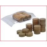 kleine houten sjoelschijven met een diameter van 30 mm