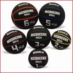 opblaasbare rubberen medicine ball van 1 kg met paarse uitlijning