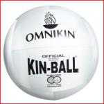 de officiële Omnikin Kin-ball bal met een diameter van 122 cm en een gewicht van 1 kg