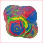 reactiebal in felle kleuren met 6 bolle vlakken