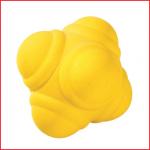 een rubberen reactiebal die in alle richtingen springt
