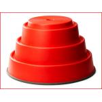 de Gonge Build 'N Balance Top 24 cm is een rode ronde basis