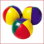 set van 3 jongleerballen met een diameter van 70 mm