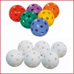 set van 6 gatenballen te gebruiken bij sport- en spelactiviteiten