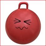 een rode springbal of skippybal met een diameter van 60 cm