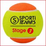 een set van 3 zachte en lichtere tennisballen stage 2