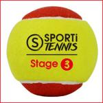 set van 3 tennisballen stage 3 voor op een klein veld