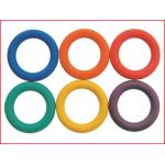 sterke rubberen werpringen in verschillende kleuren